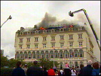 Fire at Grand Hotel
