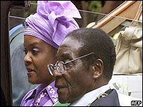 President Mugabe and his wife, Grace