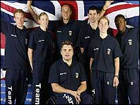 Paul Goodison, Leanda Cave, Sir Steve Redgrave, Jonathan Pollock, Richard Mantell, Nicole Cooke and Daniel Caines