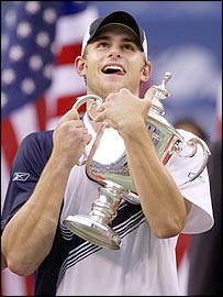 US Open winner Andy Roddick