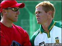 Allan Donald and his former strike bowling partner Shaun Pollock