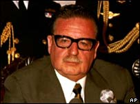 Salvador Allende, former President of Chile, in 1971