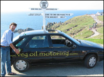 Daniel Blackburn and vegetable powered car
