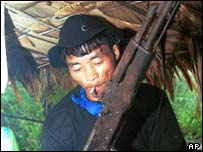 Hmong rebel fighter