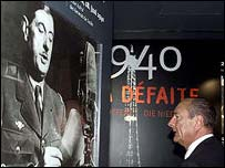 President Chirac visits Oradour massacre memorial in 1999