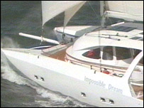 The yacht Impossible Dream