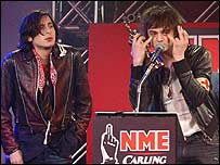 The Libertines' Carl Barat (left) and Pete Doherty