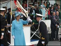 The Queen presents the Colour - PA