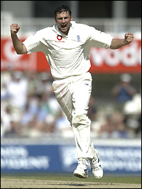 Steve Hrmison celebrates another wicket