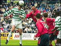 Sutton scores against Killie on the final day of the season