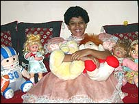 Palak with her dolls