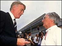 F1 bosses Max Mosley and Bernie Ecclestone