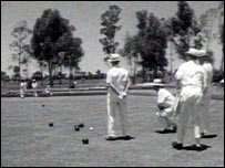 White Rhodesians playing bowls