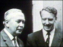Harold Wilson and Ian Smith in Downing Street