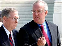 Senator Mitch McConnell (Left) with Kenneth Starr