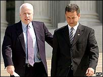 Senator John McCain (Left) and Senator Russ Feingold