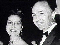 Profumo with his wife Valerie Hobson