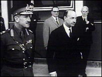 John Profumo on duty as War Secretary