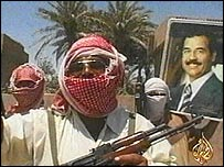 Video of Saddam supporters from Al-Jazeera TV
