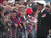 Prince Philip on Plymouth Hoe