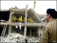 Bombed al-Hamra complex, Riyadh