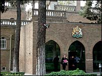 More shots at the British embassy in Tehran have been reported