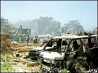 Paradise Hotel after terror attack in November 2002