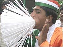 Mr Verma with 300 straws