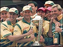 Australia's victorious 1999 cricket World Cup team