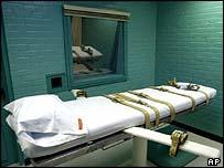 Death chamber in Huntsville prison