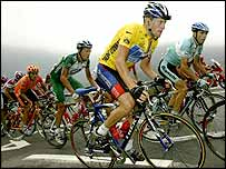 Lance Armstrong is facing a battle to retain the yellow jersey