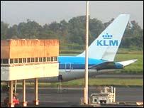 KLM aircraft at Douala