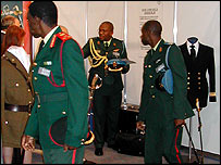 Botswana's defence attache Lt.Col. S Lebodi at Imperial Sword Company