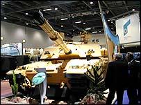 Challenger 2 battle tank in desert camouflage