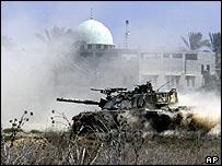 Israeli tank manoeuvres in Gaza