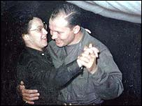 Major Holleman (right), the 8055 Commanding Officer who followed Colonel Beeler, dances with a nurse