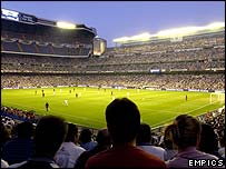 Real Madrid's Estadio Bernabeu
