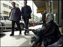 Podgorica pavement beggar
