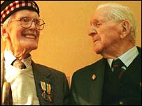 Veterans Robert Urquhart and Alfred Anderson