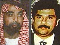 Images of Uday and Qusay Hussein from a CD-Rom released by the US in Baghdad
