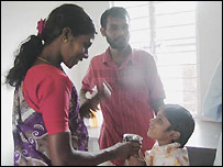Villagers in ashram
