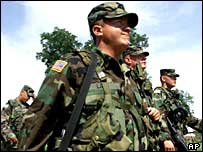 US peacekeeping soldier in Bosnia