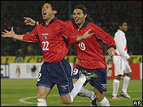 Los chilenos Arturo Norambuena y Rafael Olarra.