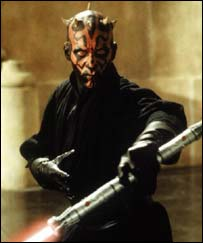 Darth Maul and his double blade light sabre, PA/TCF