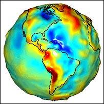 Mapa de la Tierra producido por GRACE