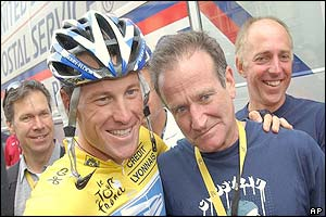 Lance Armstrong and Robin Williams