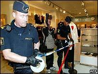 Police seal off the scene