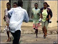 Panic on Monrovia's street