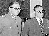 Augusto Pinochet (left) and Salvador Allende