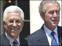 US President George W Bush and Palestinian Prime Minister Mahmoud Abbas
